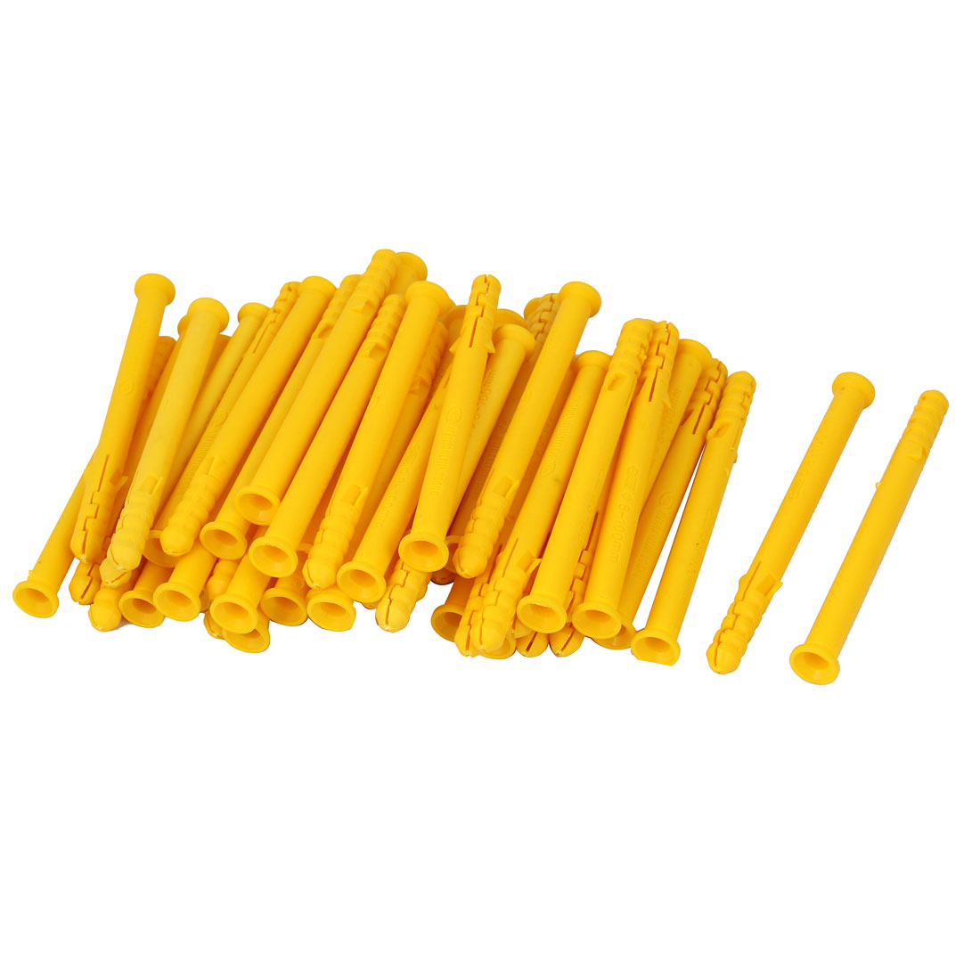 Lag Screws 8mm Dia Plastic Expansion Nails 100mm Long Yellow 50pcs