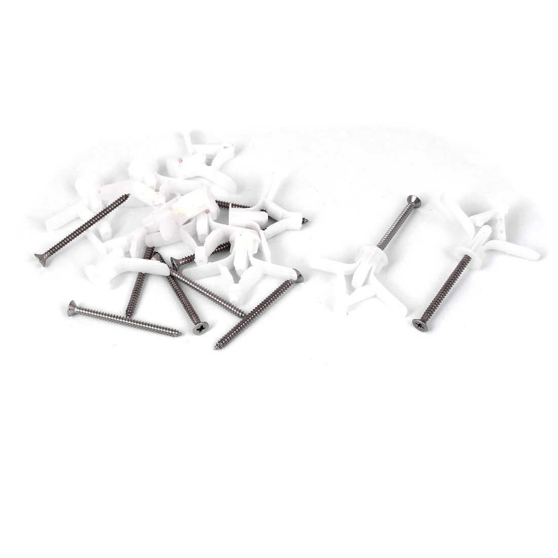 10pcs Plasterboard Fixings Airplane Expansion Tube Anchors w 50mm Long Screws