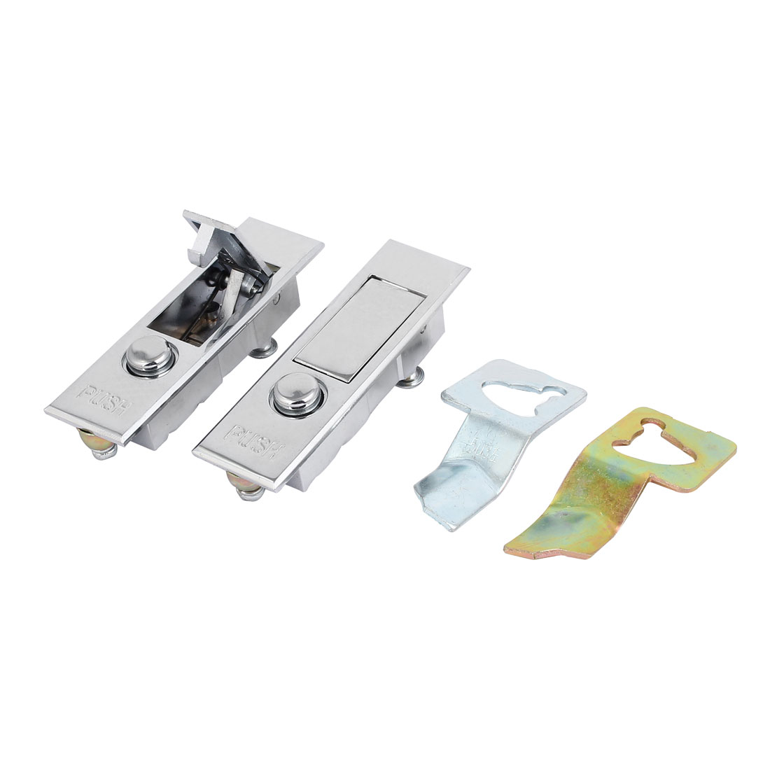 Electric Cabinet Toolbox Metal Push-up Keyless Plane Lock Lockset 2pcs