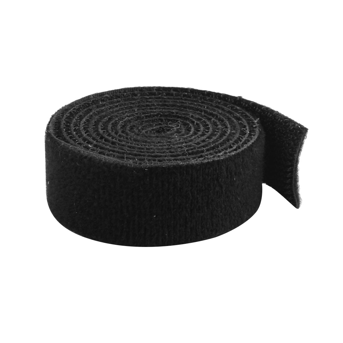 Self Attaching Back Hook Loop Fastening Tape Strip Black 1M Long 22mm Width