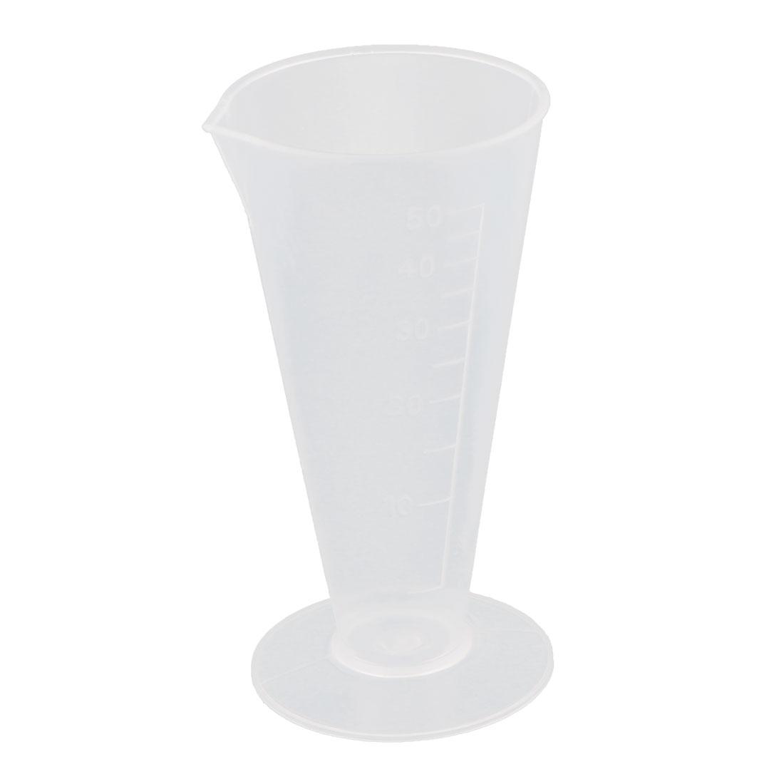 Lab Plastic Graduation Scale Beaker Experiment Measuring Cup 50ml