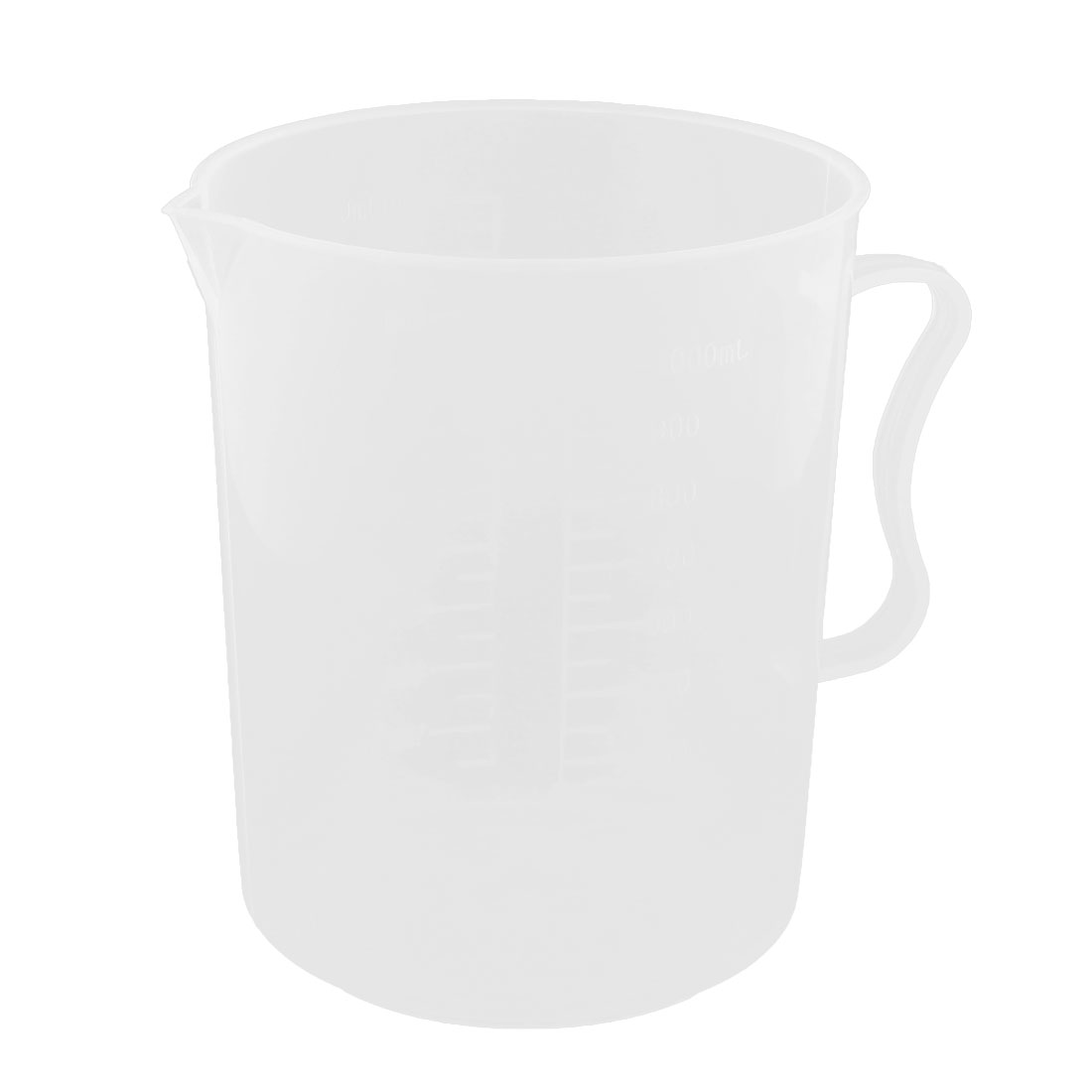 Home Lab Plastic Graduation Scale Beaker Baking Cooking Experiment Measure Cup Mug 1000ml