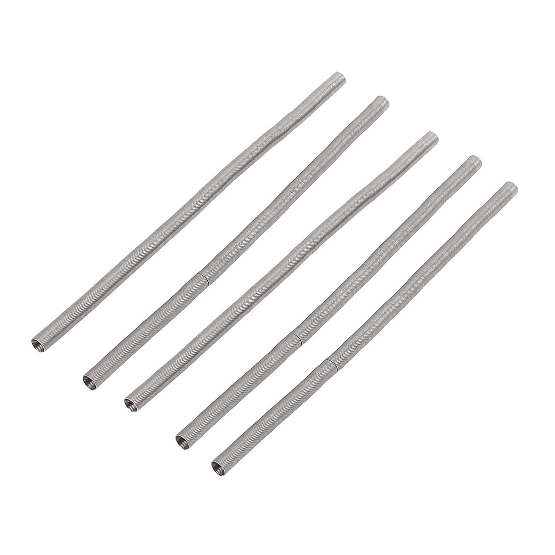 AC220V 300W Heating Element Coil Heater Wire Silver Gray 120mm x 5mm 5Pcs