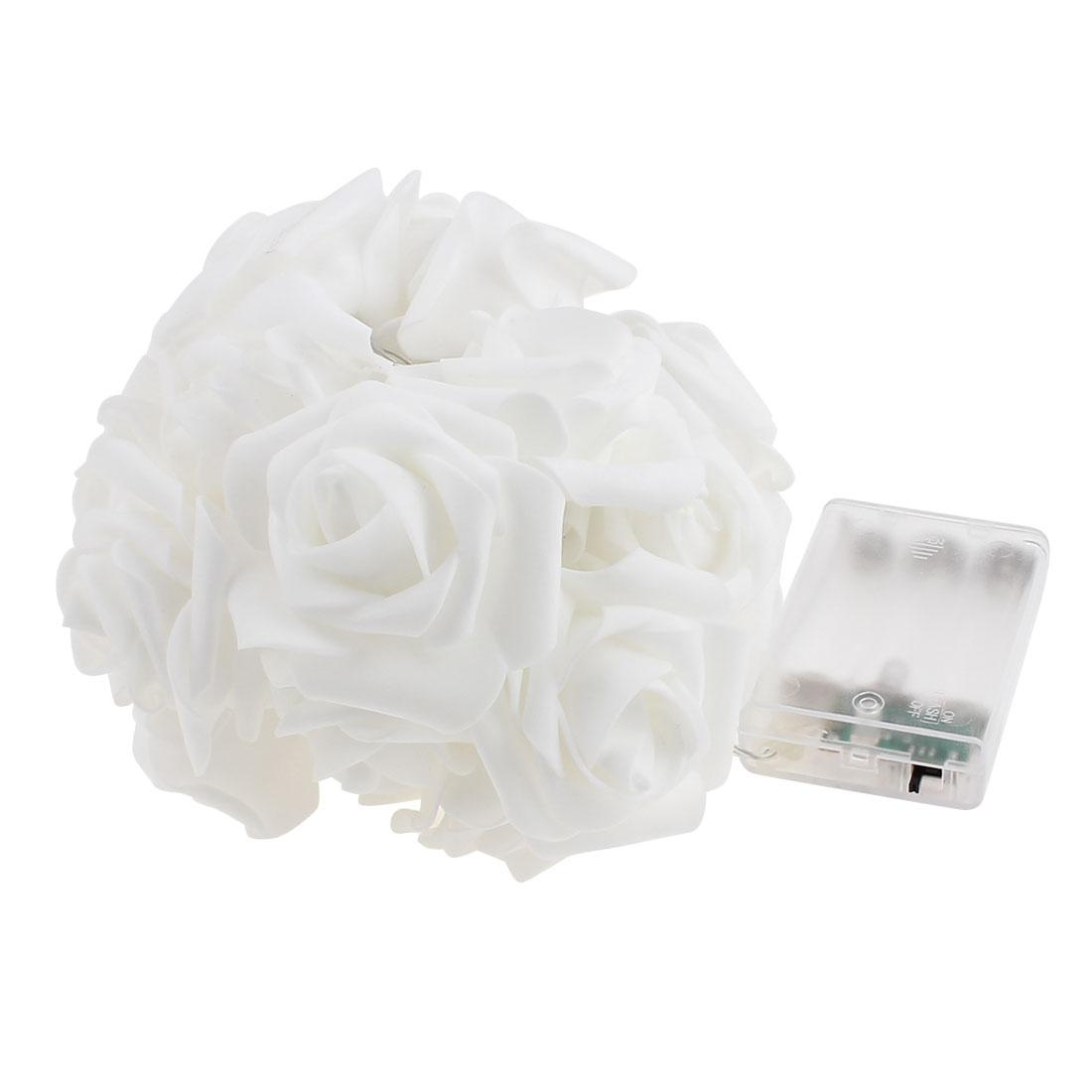 20 LED String Light Battery Supply Rose Flower Warm White Lamp Wedding Decor Light 2M