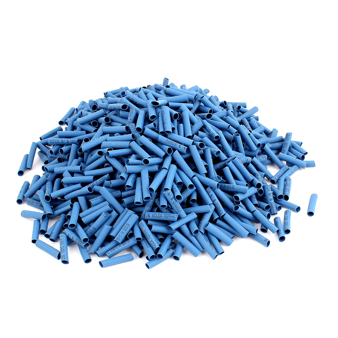 1000 Pcs Electrical Connection Cable Sleeve 20mm Long Heat Shrink Tubing Wrap Blue