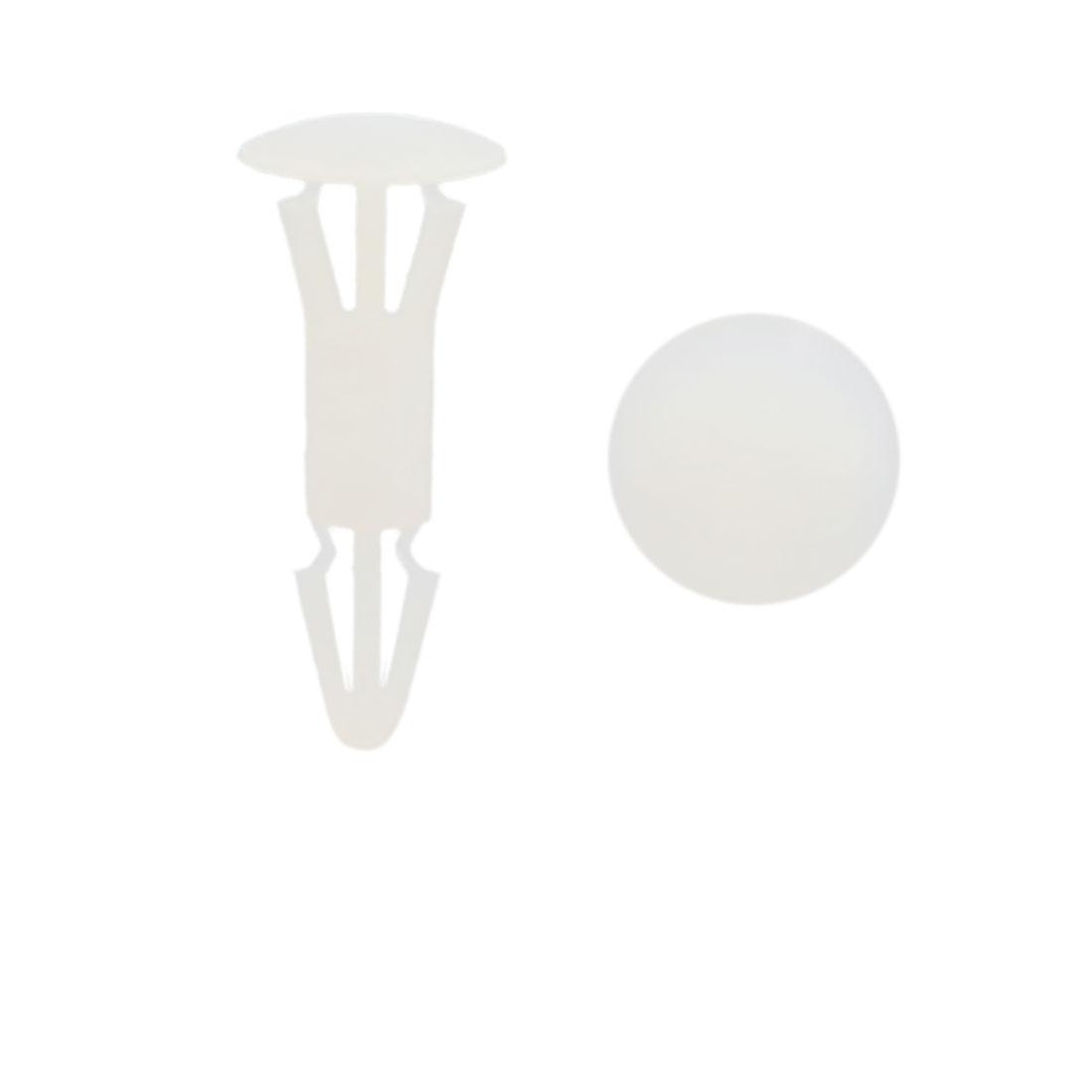 200pcs Universal White Plastic Fasteners Clips Rivet for Car Auto Bumper Fender