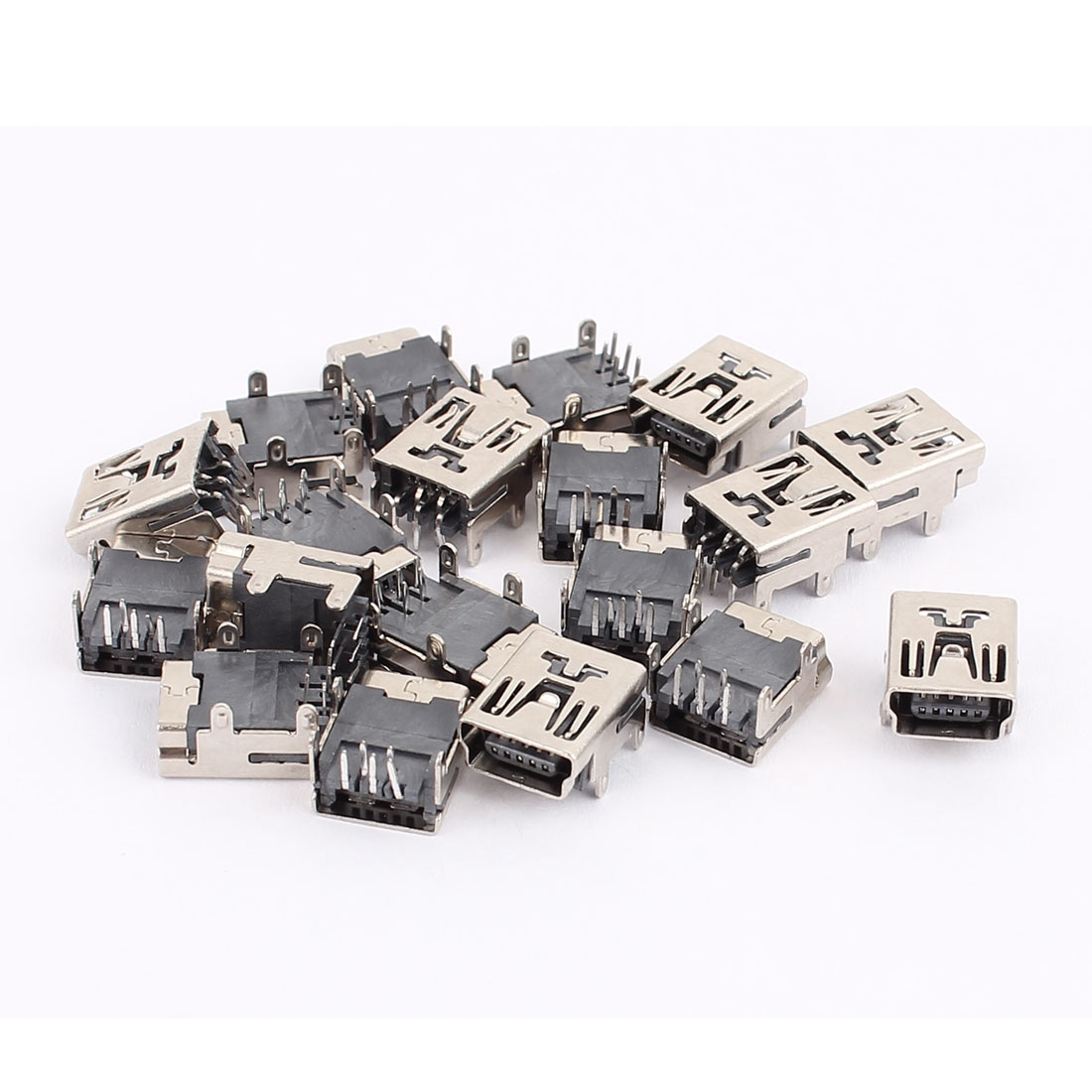 19PCS 5P Type B SMT SMD Mini USB Female Socket Jack Connector