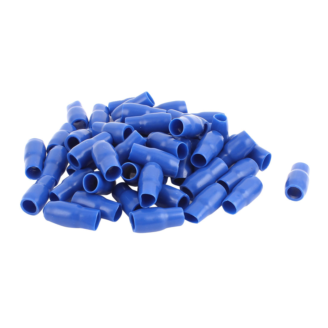 50 Pcs Blue Soft PVC Wire V-14 16mm2 Crimp Terminal End Insulated Sleeves Caps Cover