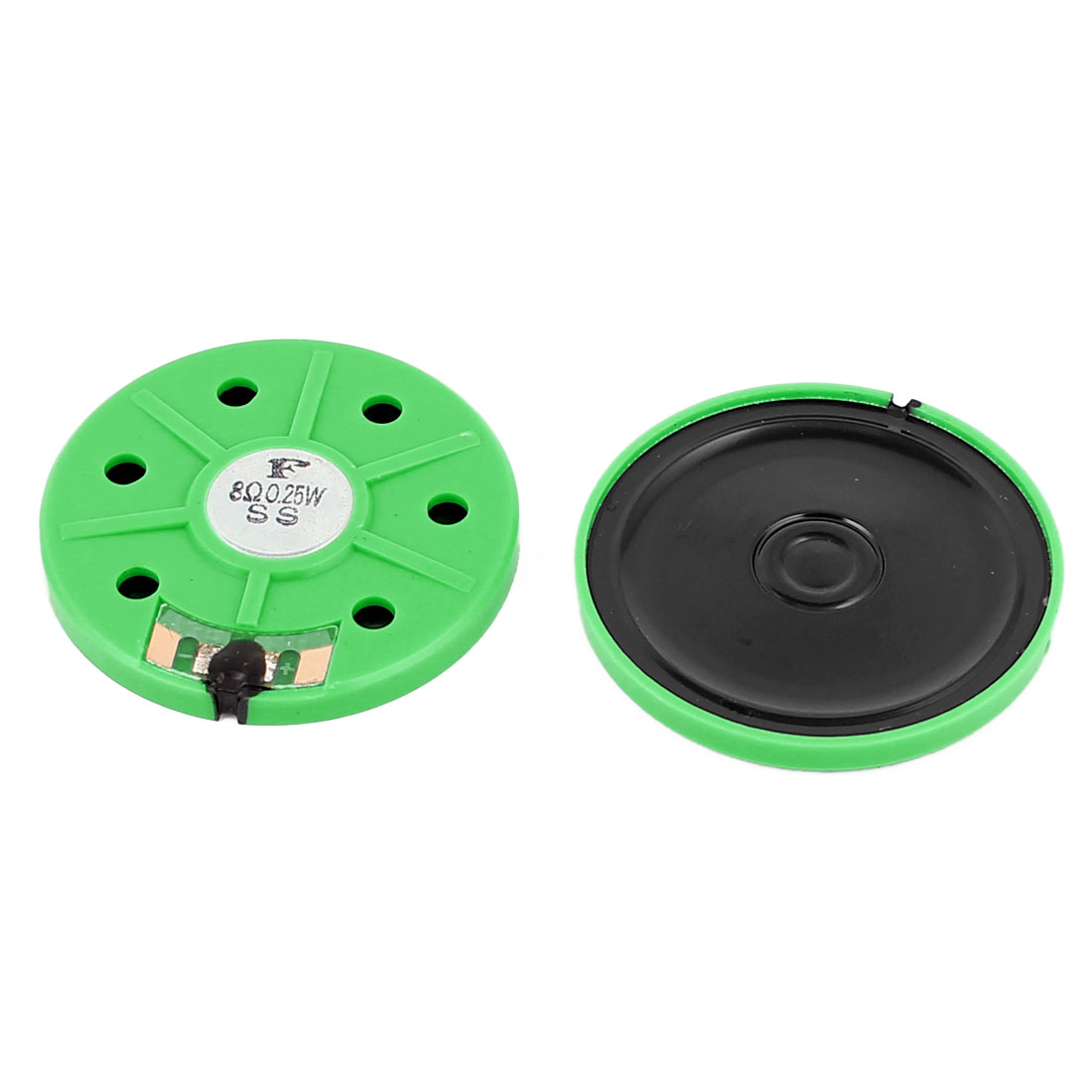 0.25W 8 Ohm 40mm Dia External Magnet Loudspeaker Speaker Horn Green