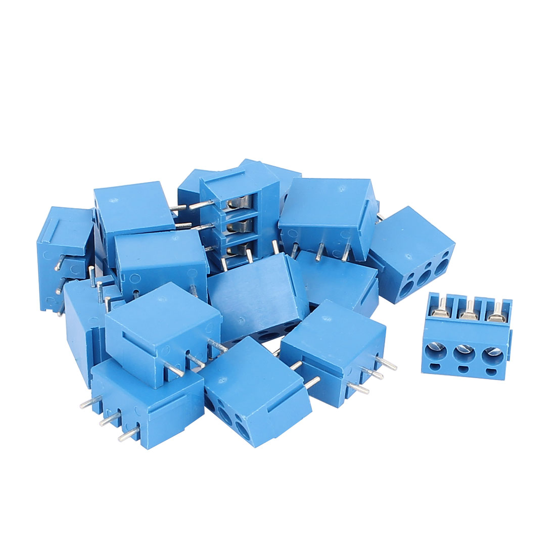 22 Pcs 5.08mm Pitch 3P Male PCB Pluggable Terminal Block Connector