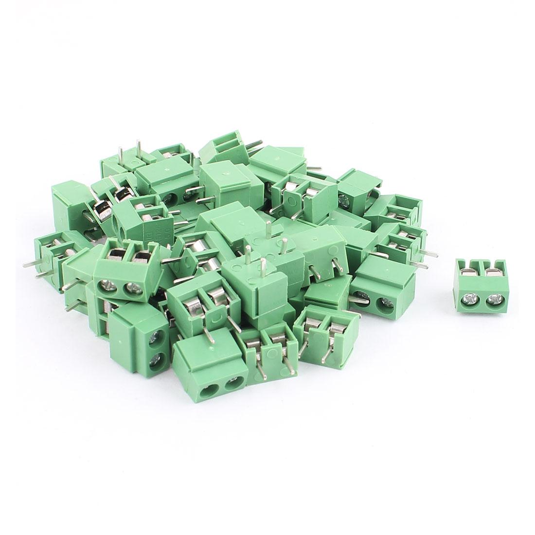 50 Pcs 5.08mm Pitch 2P Male PCB Pluggable Terminal Block Connector