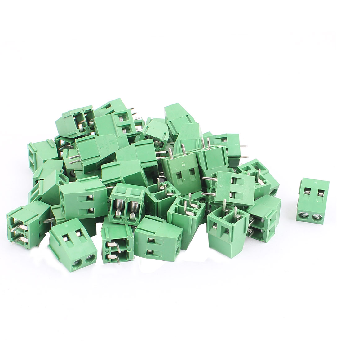 50 Pcs 5.08mm Pitch 2P Male PCB Inserted Terminal Block Connector Adapter