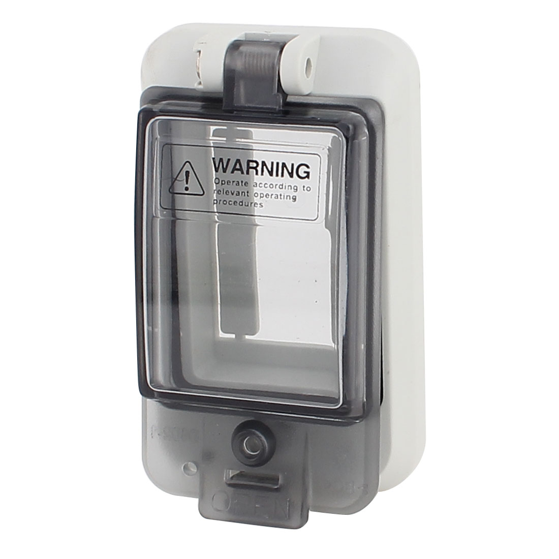 Waterproof Clear Rectangle 2 Position Distribution Box Switch Cover for Circuit Breaker