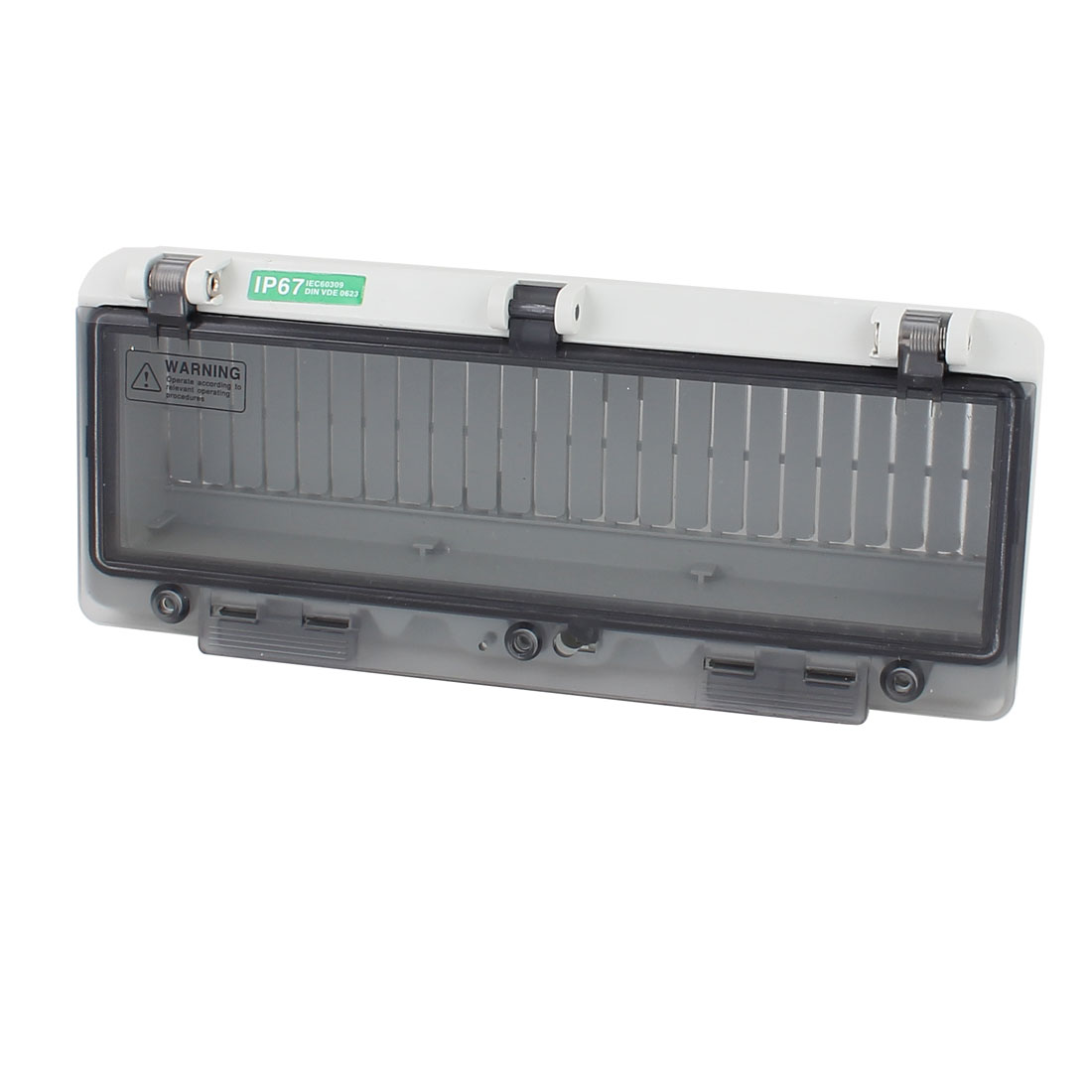 Waterproof Clear Rectangle 12 Position Distribution Box Switch Cover for Circuit Breaker