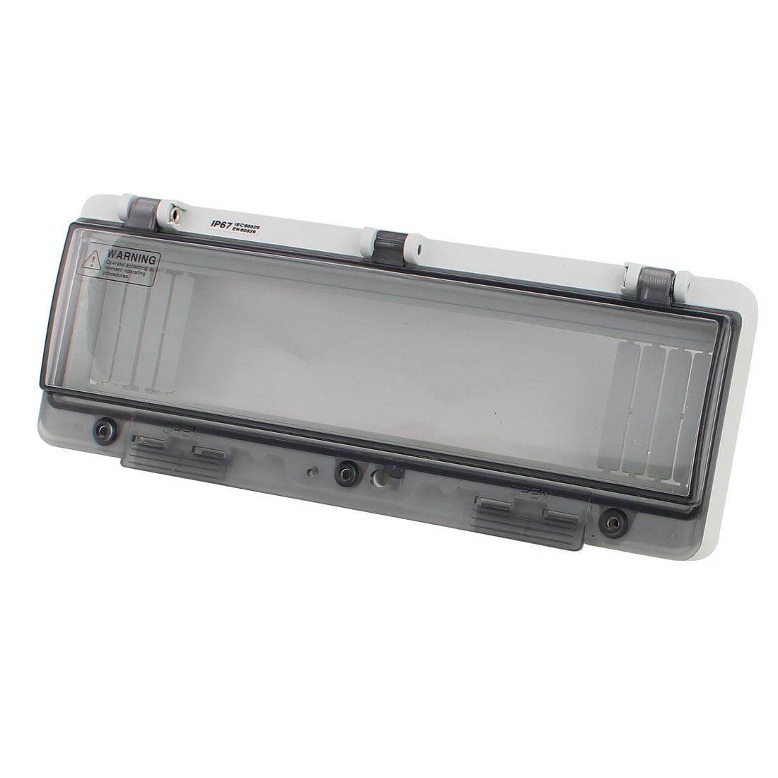 Waterproof Clear Rectangle 13 Position Distribution Box Switch Cover for Circuit Breaker