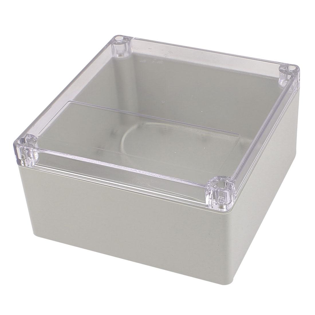 192mm x 188mm x 100mm Clear Cover Dustproof IP65 Enclosure Case DIY Junction Box