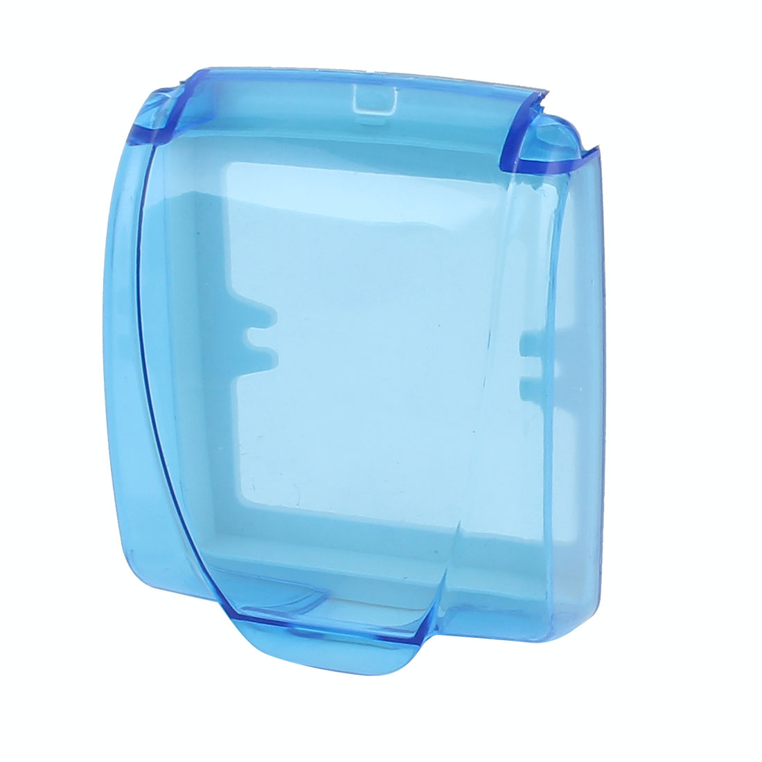 Plastic Splash Proof Electrical Enclosure Wall Plate Socket External Box Clear Blue