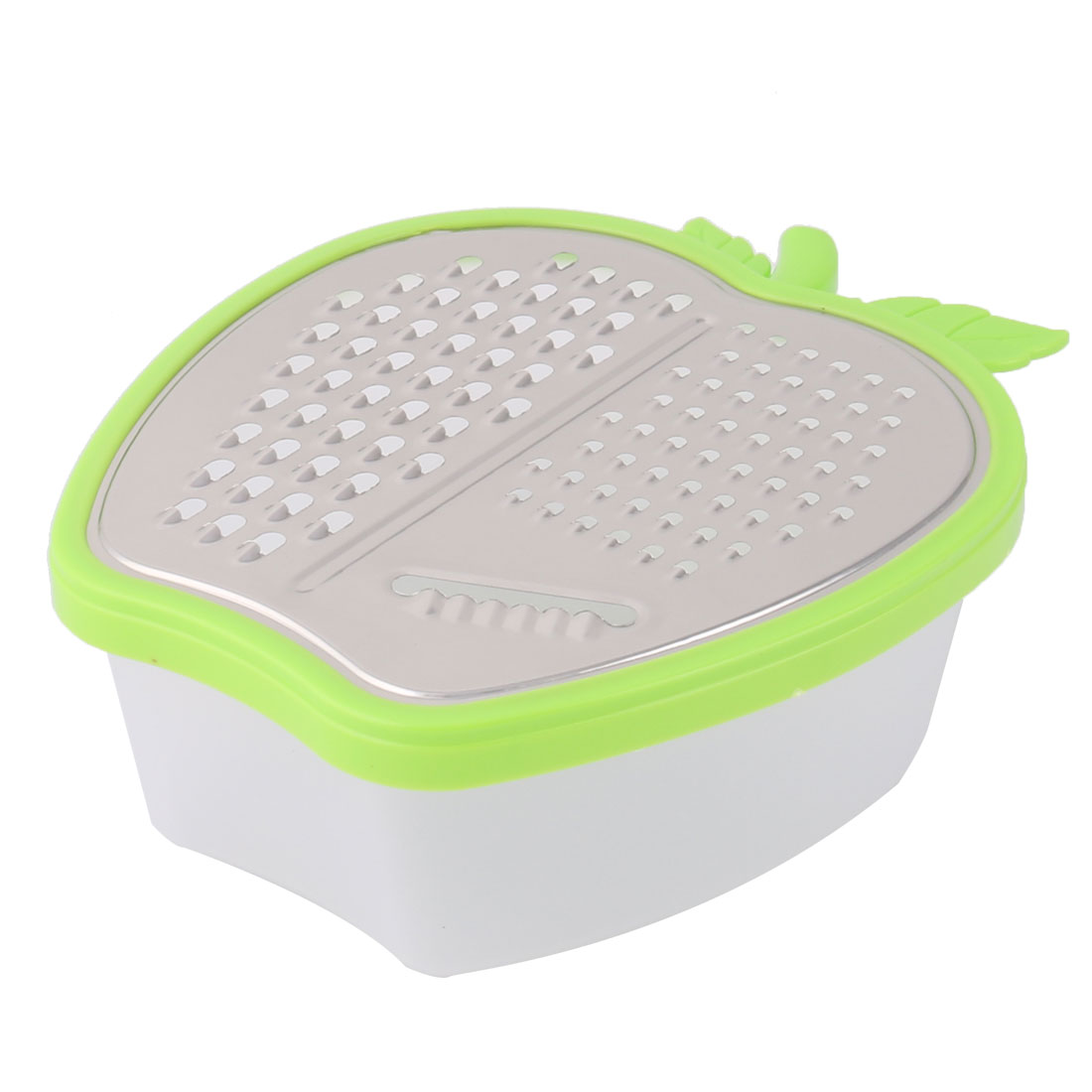 Metal Apple Shape Kitchen Fruit Vegetable Box Grater Slicer Peeler