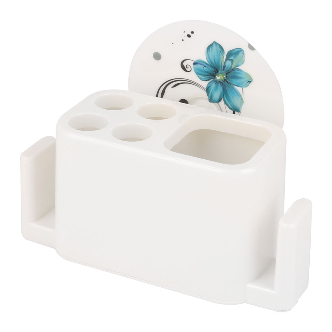 Kitchen Bathroom Toothbrushes Towel Holder Wall Basket Shelf White