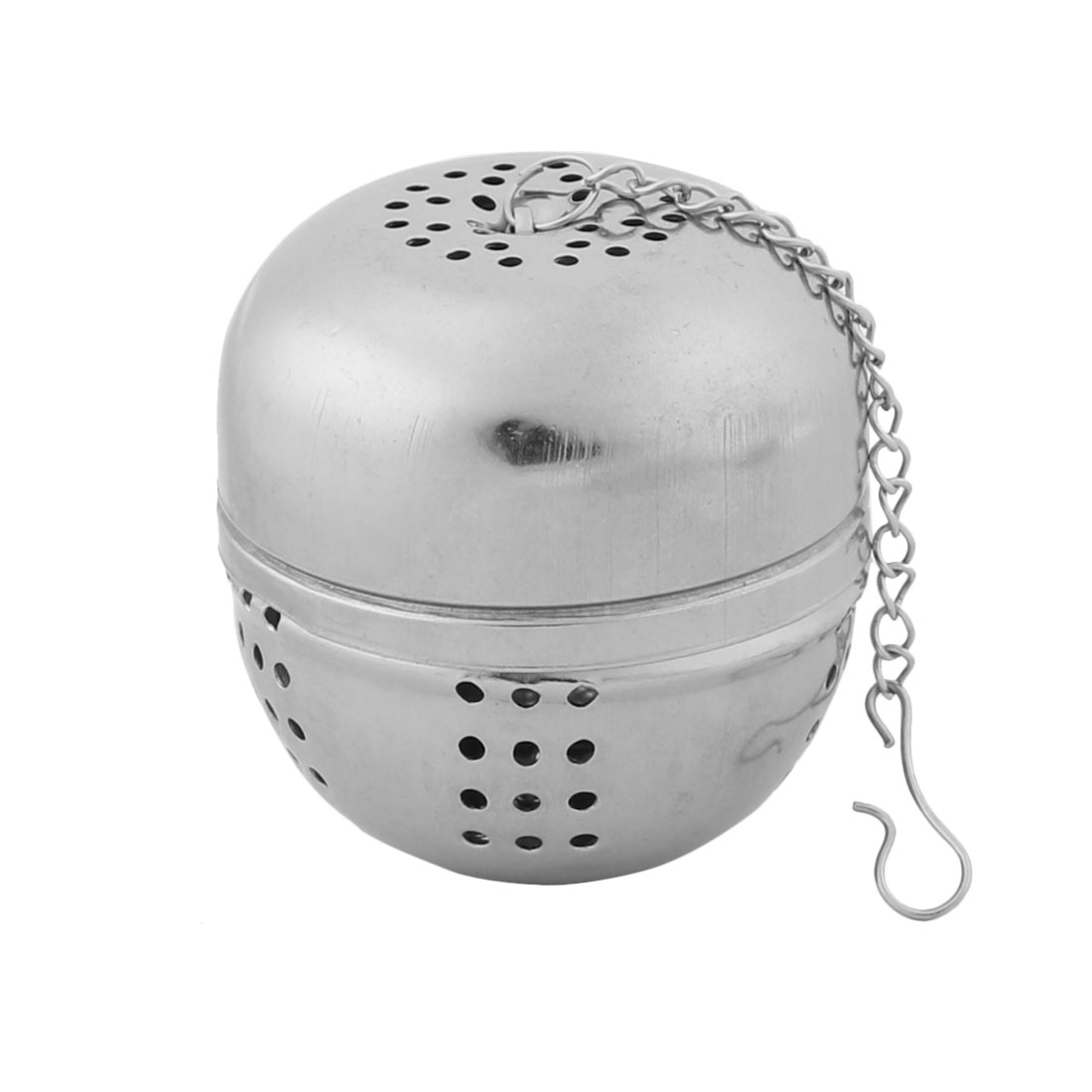 Household Kitchen Stainless Steel Tea Ball Strainer Infuser Silver Tone