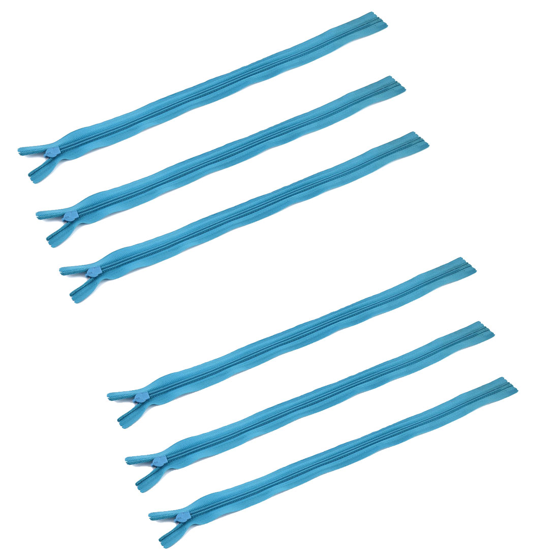 Home Tailor Nylon Dress Sewing Tool Invisible Smooth Zipper Light Blue 30cm Length 6 Pcs