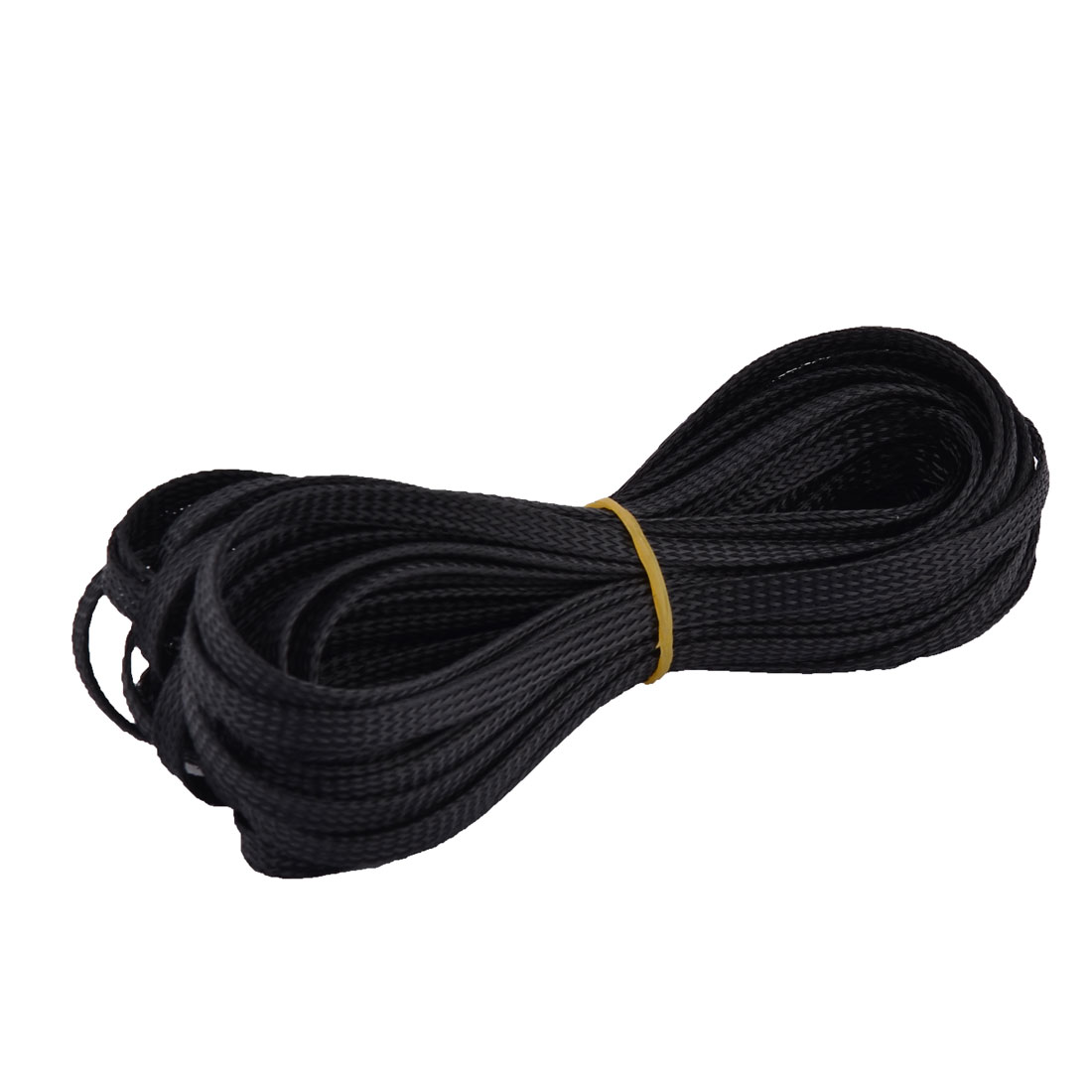 10M Long 6mm Wide Nylon Braided Elastic Expandable Sleeving Wire Cable Harness Black