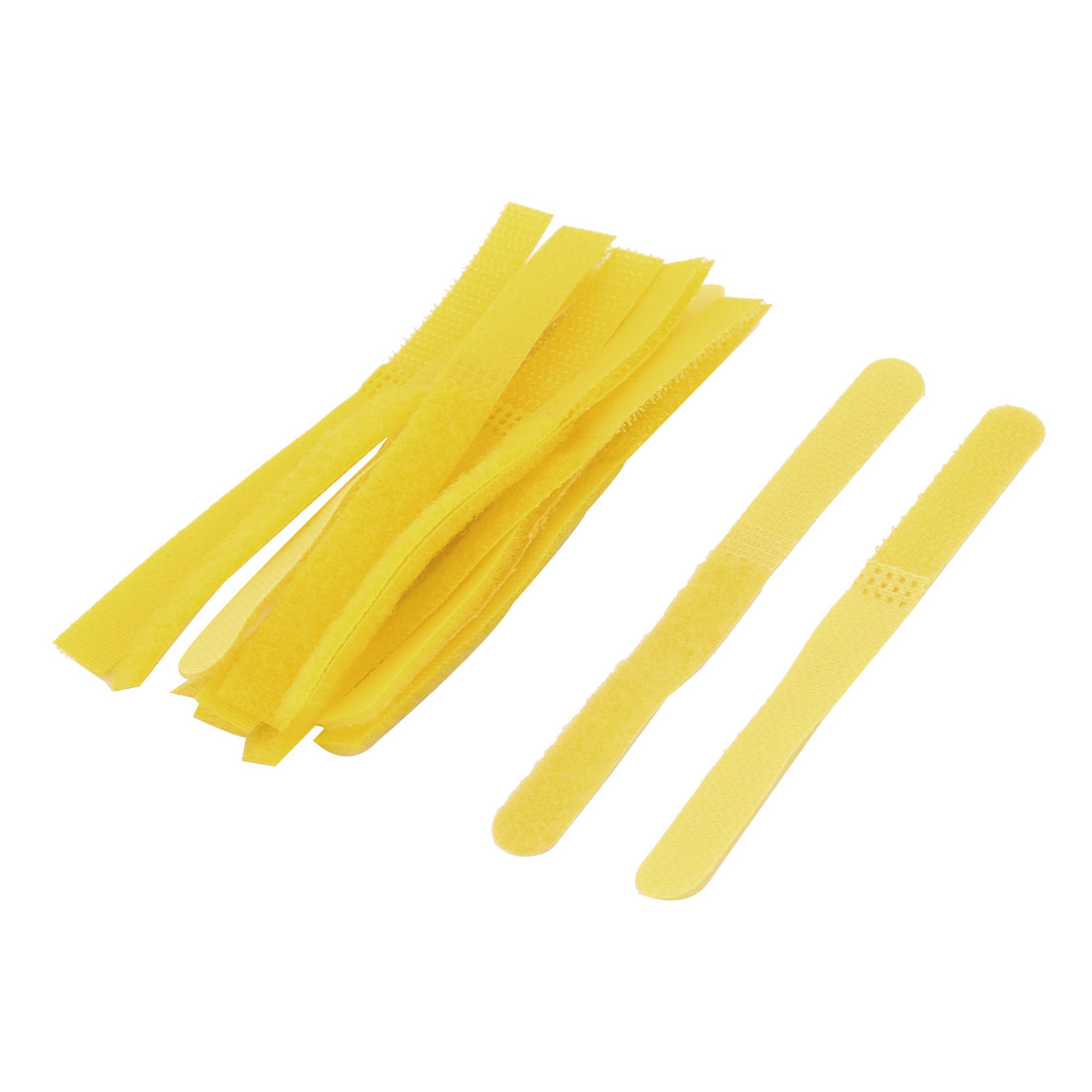 Lady Nylon Magic Bangs Hair Sticker Square Tape Fringe Care Tool Yellow 13 Pcs