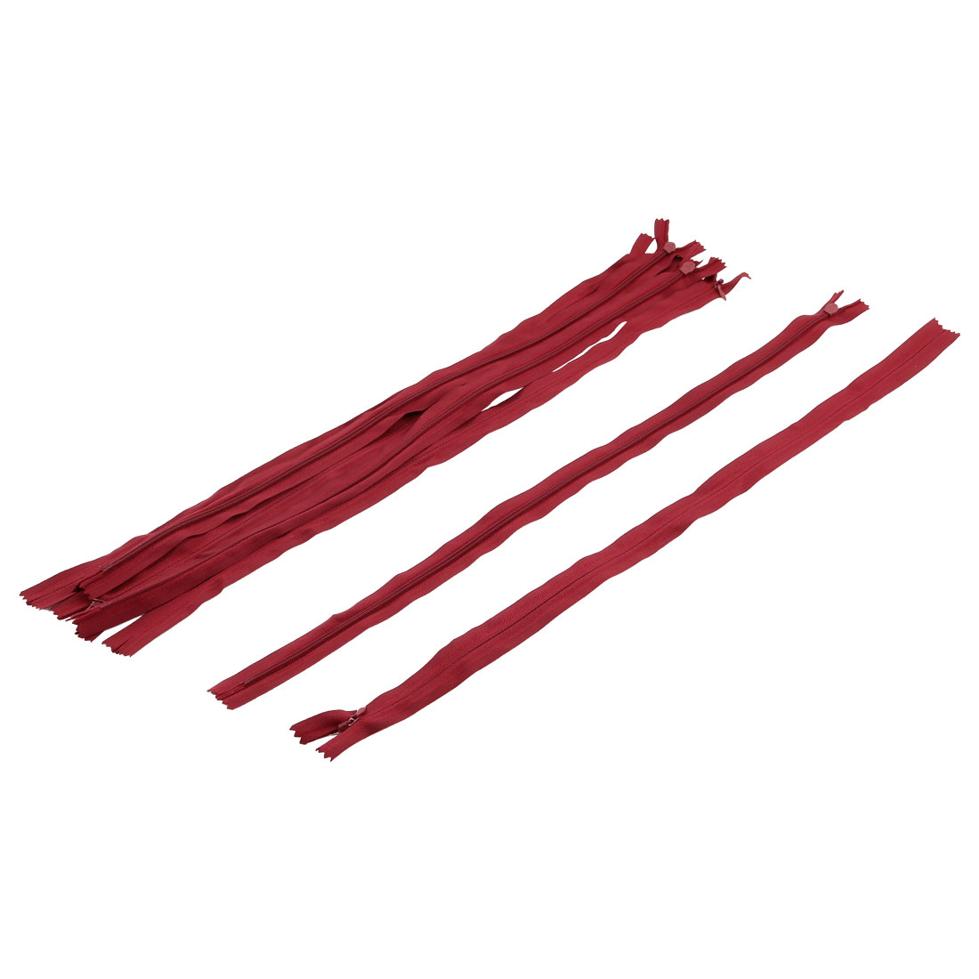 Tailor Nylon Conceal Invisible Zippers Sewing Tool Red 50cm Length 7PCS