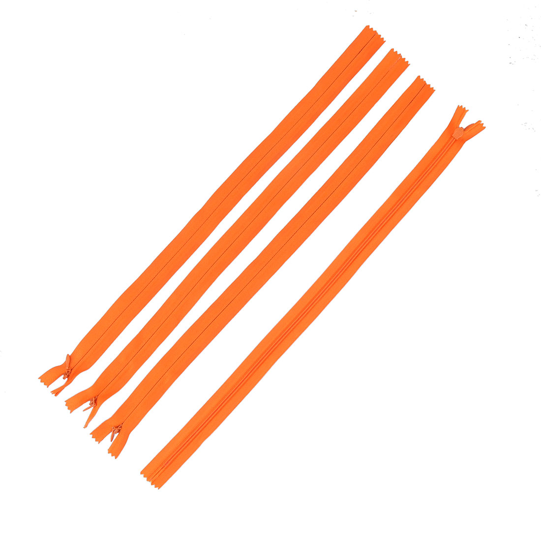 Tailor Sewer Nylon Invisible Zippers Sewing Tool Orange 40cm Length 4PCS