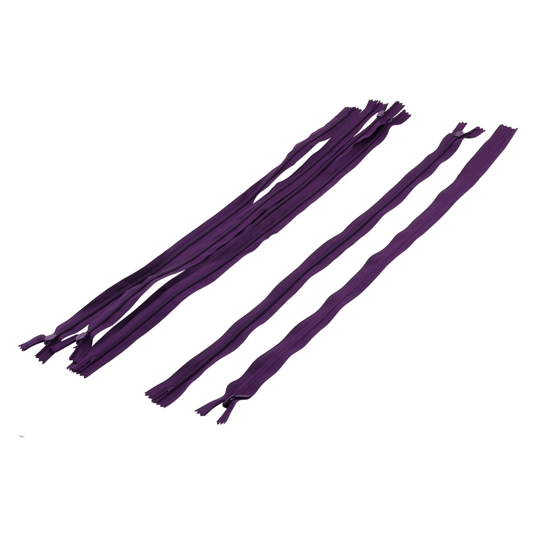 Tailor Sewer Nylon Invisible Smooth Zippers Sewing Tool Purple 46cm Length 6PCS