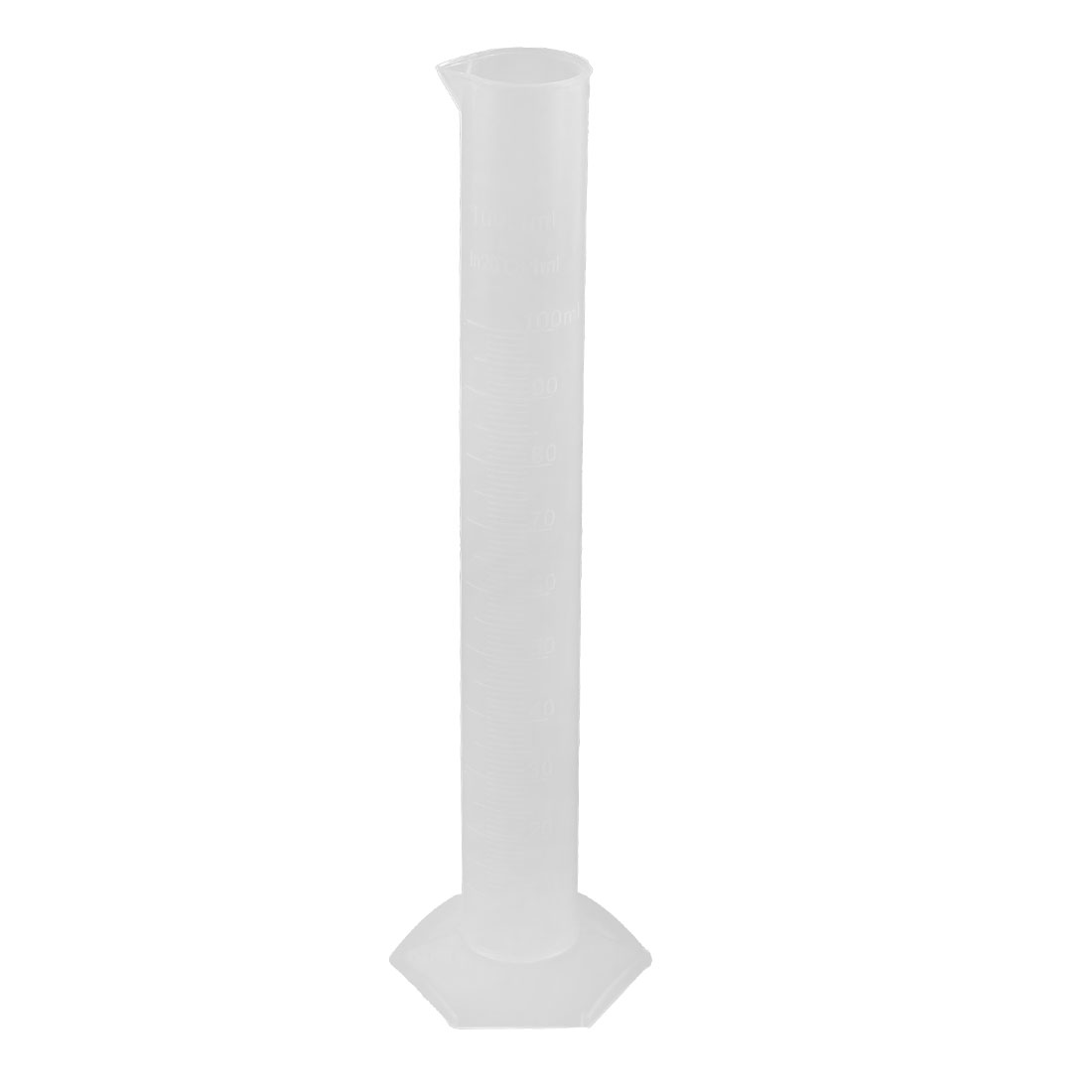 Plastic Laboratory Measuring Tool Hex Base Graduated Cylinder Clear 100ML