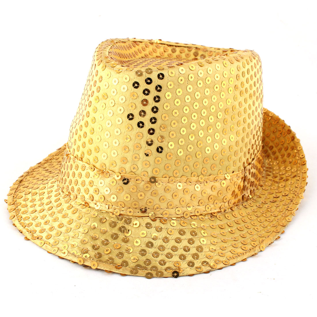 Men Women Sequins Detailing Leisure Style New fashion Bling Jazz Hat Yellow