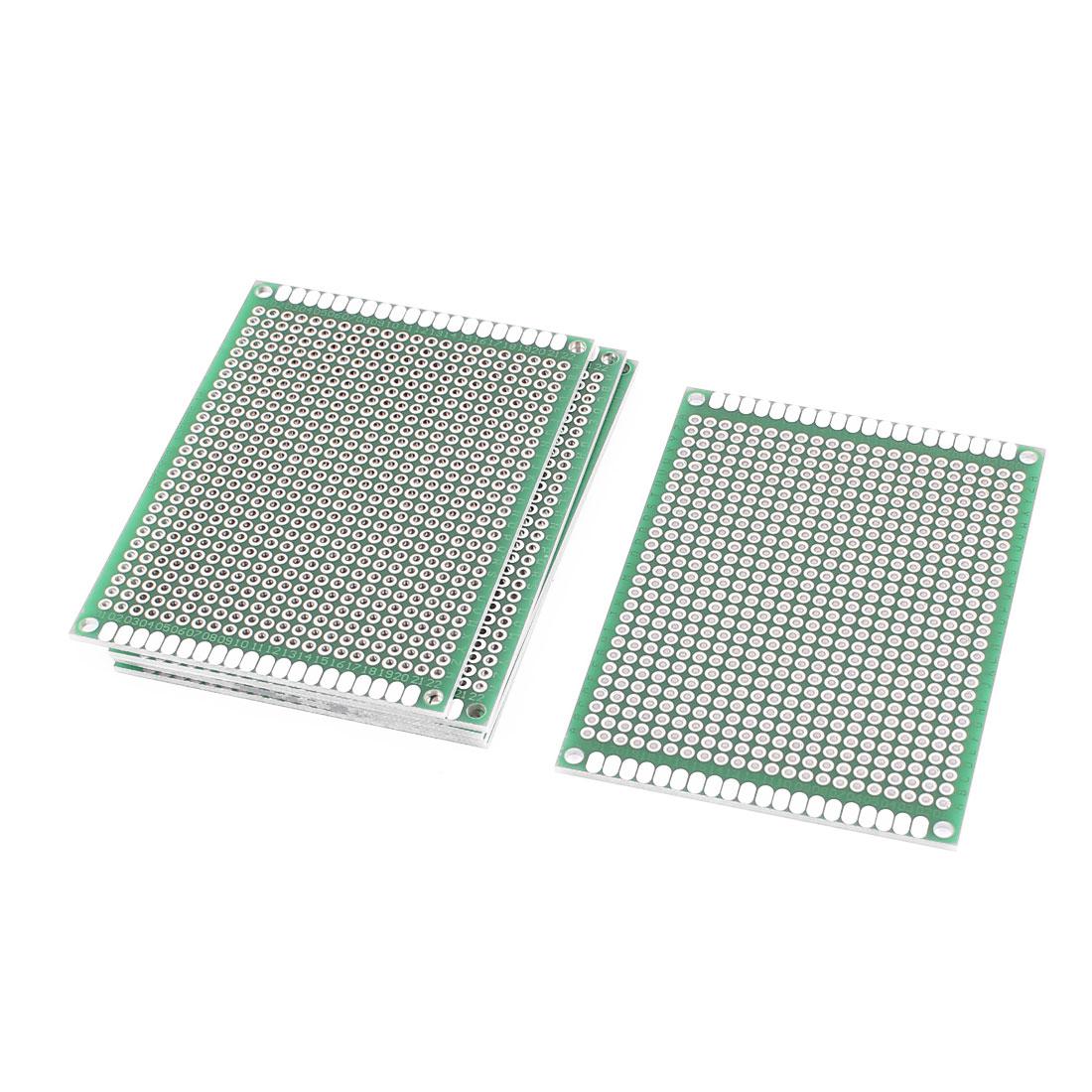 6Pcs Double-Side Prototype Solderable Paper Universal PCB Board 6x8cm