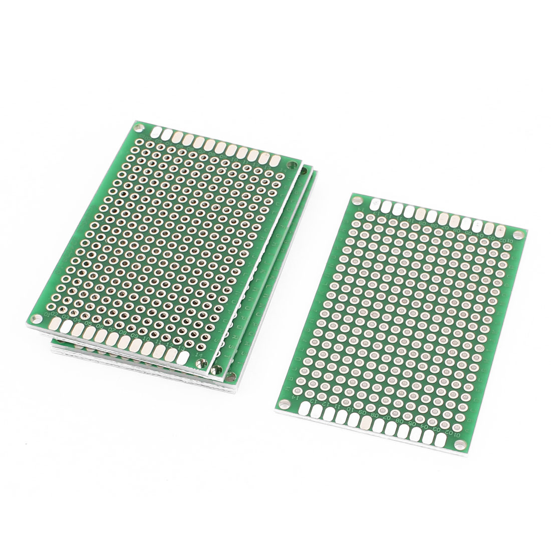 6Pcs Double-Side Prototype Solderable Paper Universal PCB Board 4x6cm