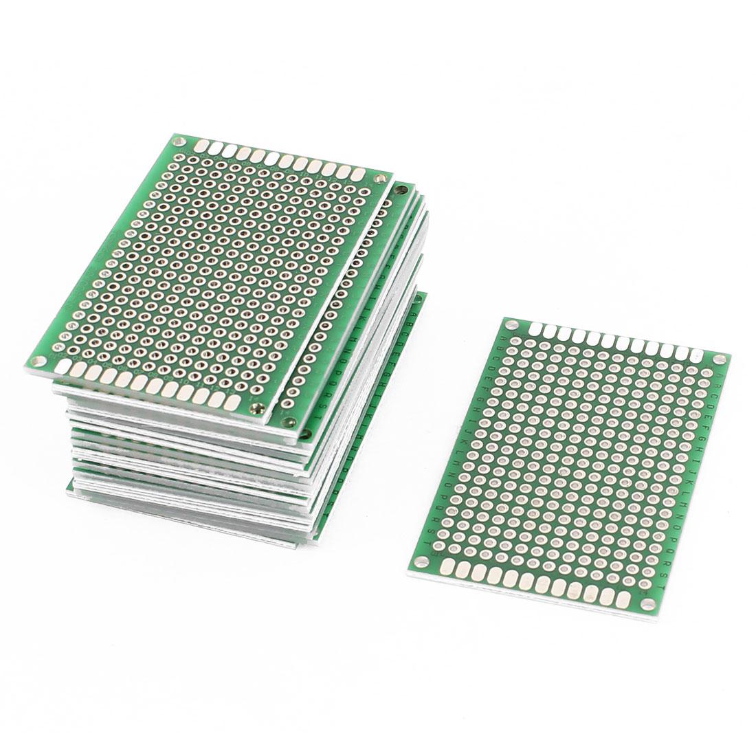 20Pcs Double-Side Prototype Solderable Paper Universal PCB Board 4x6cm