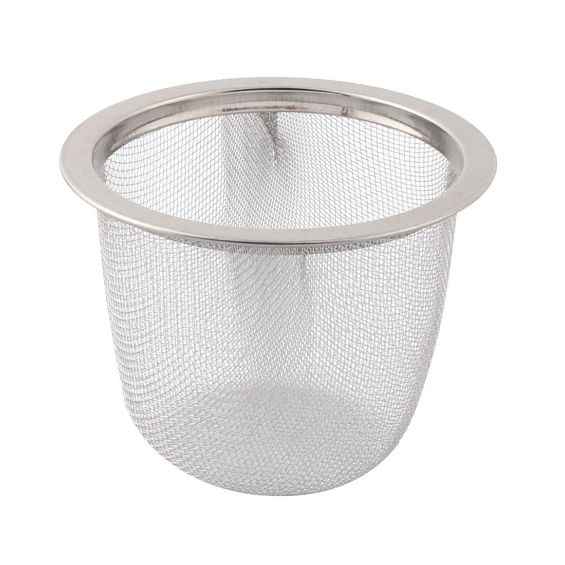Tea Leaf Spice Stainless Steel Round Wire Mesh Filter Strainer 6cm Dia