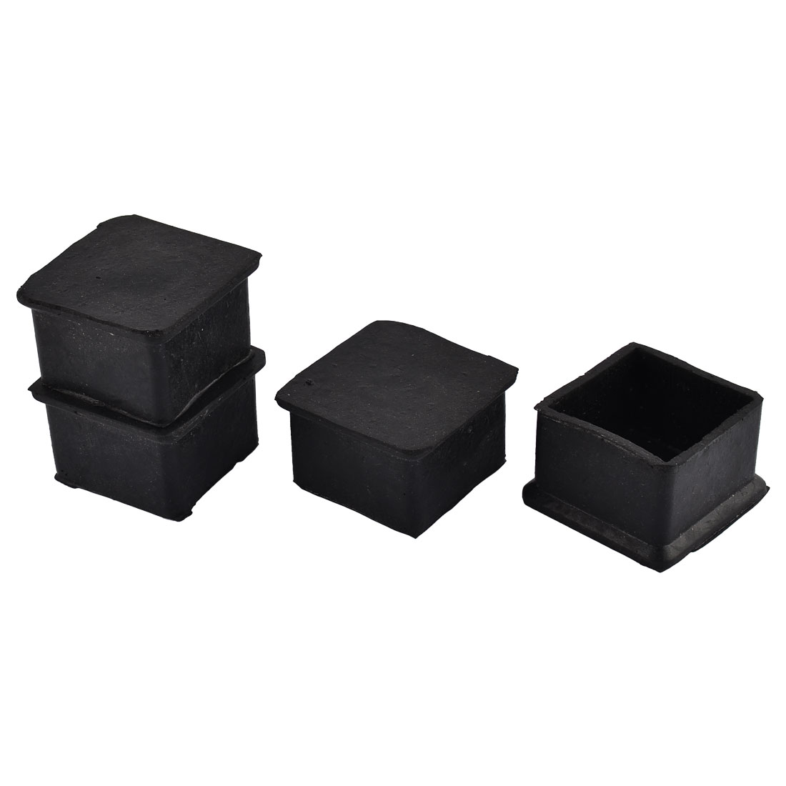 Furniture Table Chair Rubber Square Shape Foot Protector Pad Black 4pcs