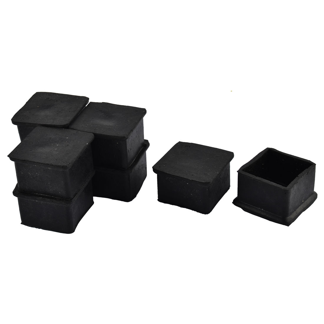 Furniture Table Chair Rubber Square Shape Foot Protector Pad Black 8pcs