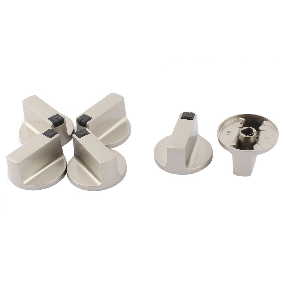 Kitchen Gas Stove Oven Alloy Bevel Hole Design Rotary Switch Range Knob 4cm Dia 6pcs