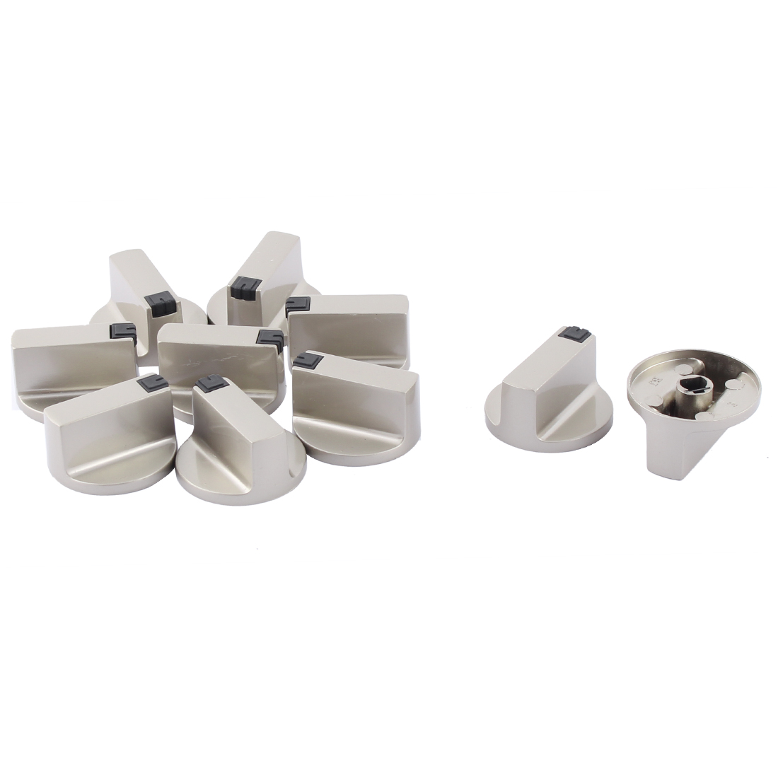 Kitchen Gas Stove Oven Alloy Bevel Hole Design Rotary Switch Range Knob 4cm Dia 10pcs
