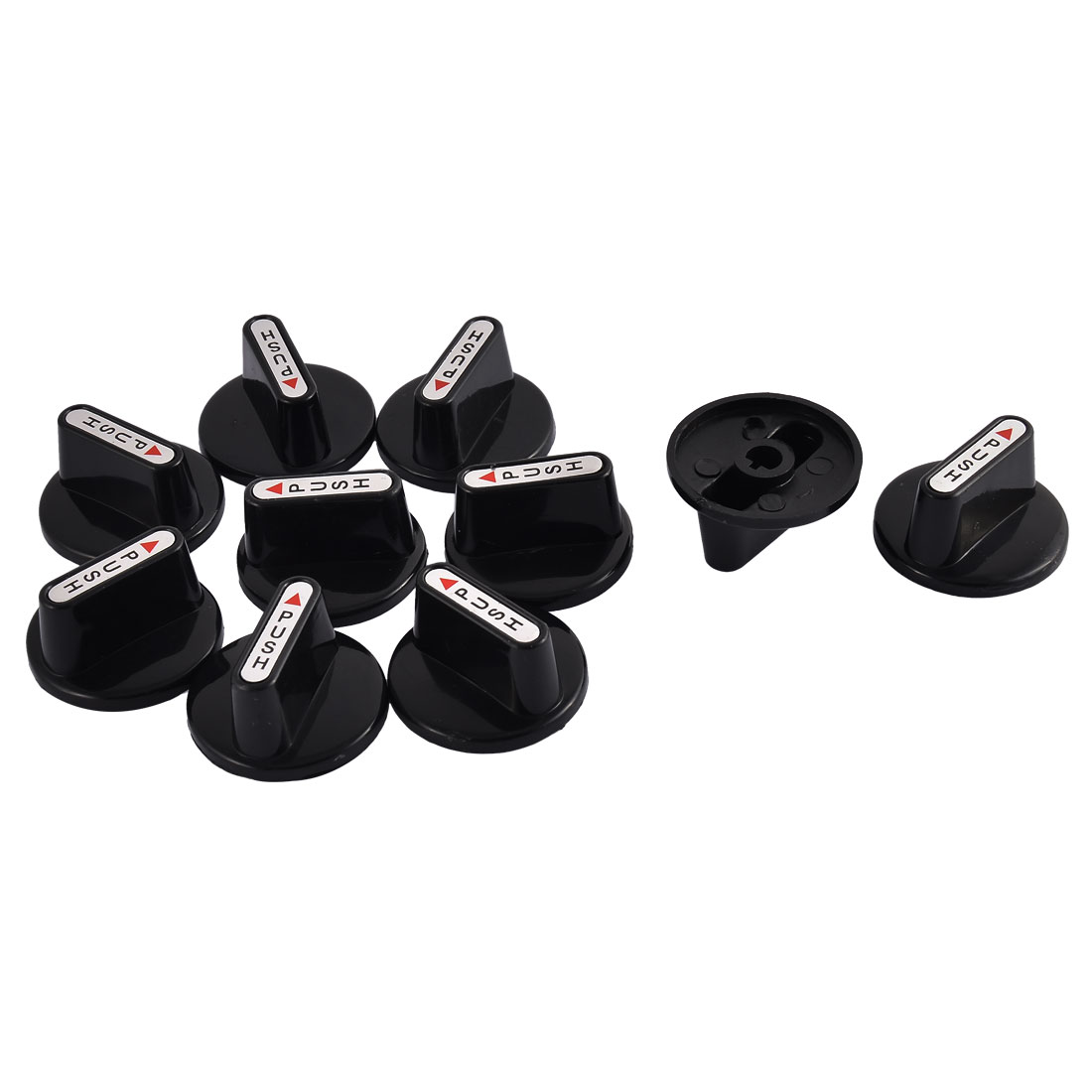 Kitchenware Gas Stove Cooker Plastic Rotary Switch Range Handle Knob Black 10pcs