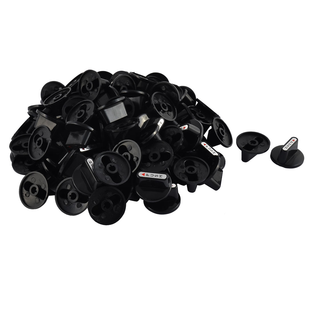 Kitchenware Gas Stove Cooker Plastic Rotary Switch Range Handle Knob Black 100pcs