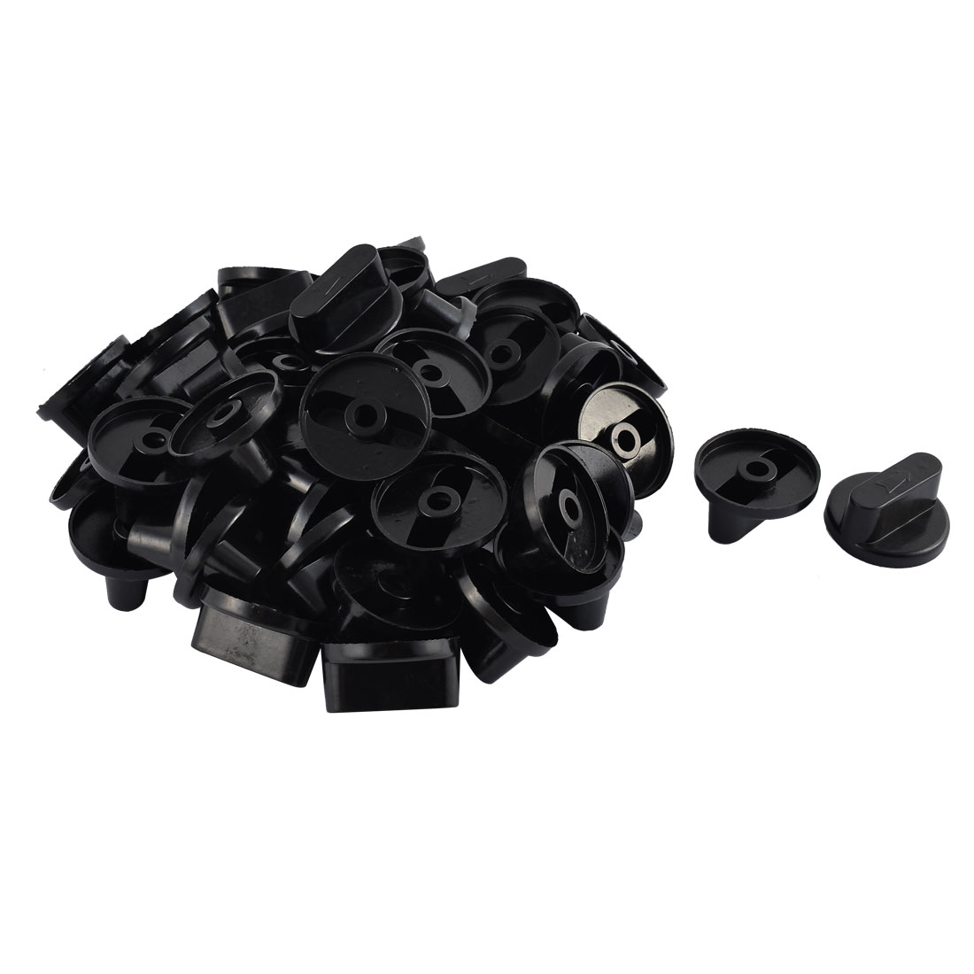 Kitchen Gas Stove Oven Plastic Rotary Switch Range Knob Black 4.5cm Dia 50pcs