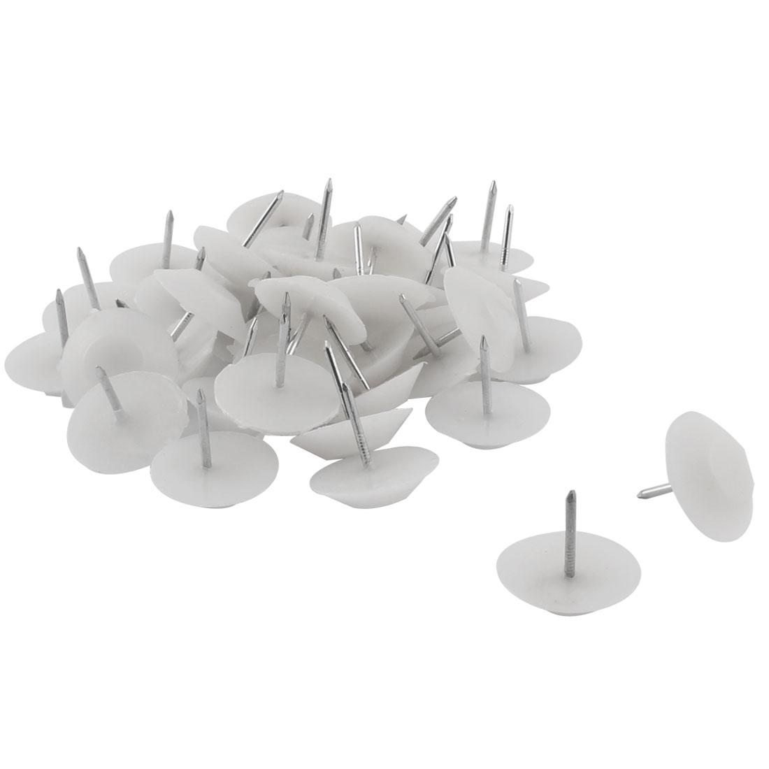 Furniture Feet Anti-slide Floor Protector Pad Nails 20mm Head Dia 30 Pcs