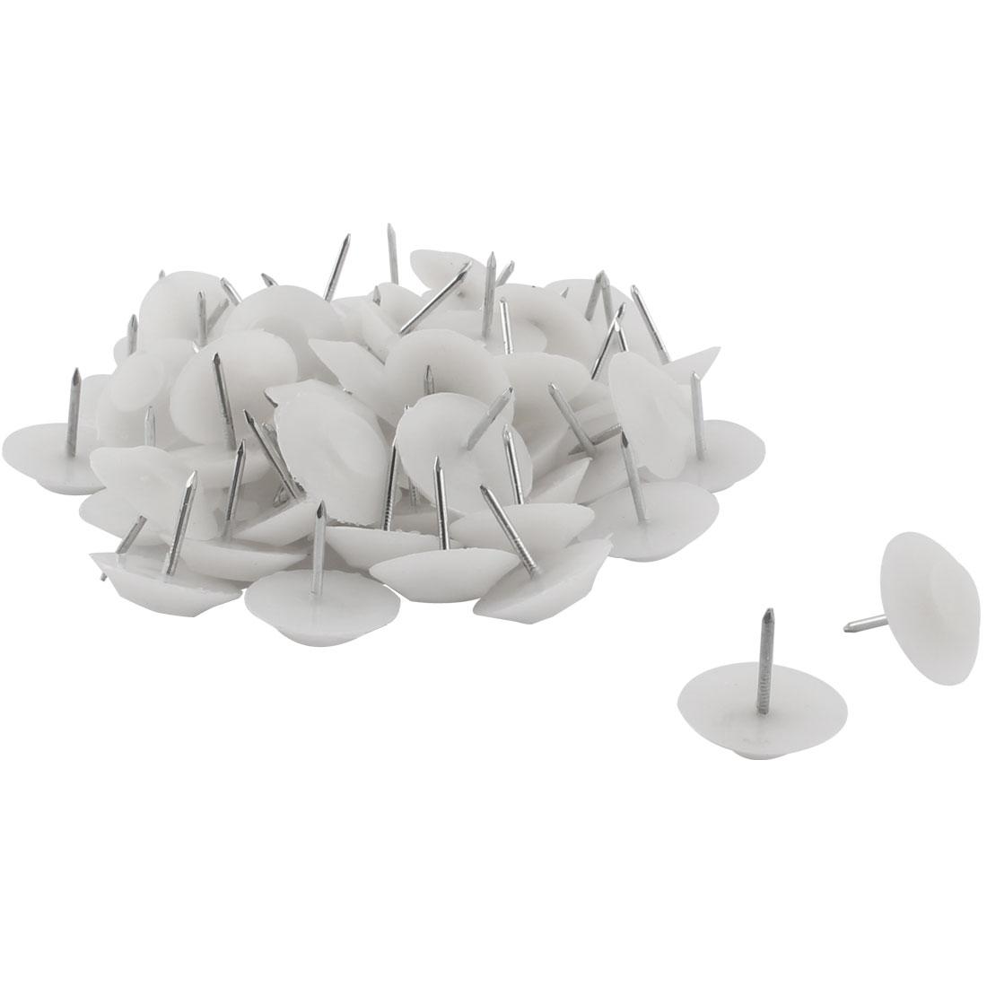 Furniture Feet Anti-slide Floor Protector Pad Nails 20mm Head Dia 50 Pcs