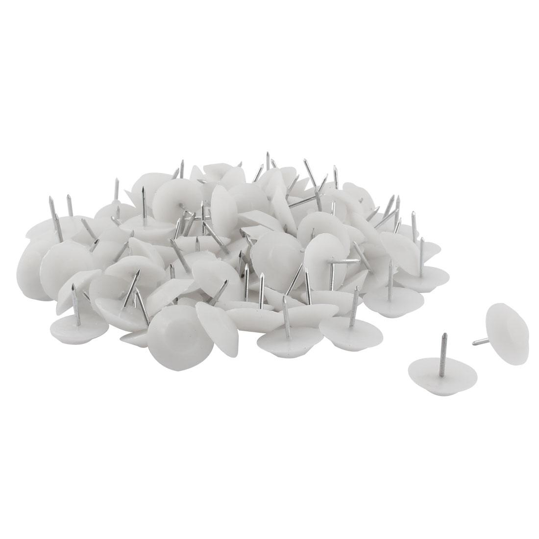 Furniture Feet Anti-slide Floor Protector Pad Nails 20mm Head Dia 100 Pcs