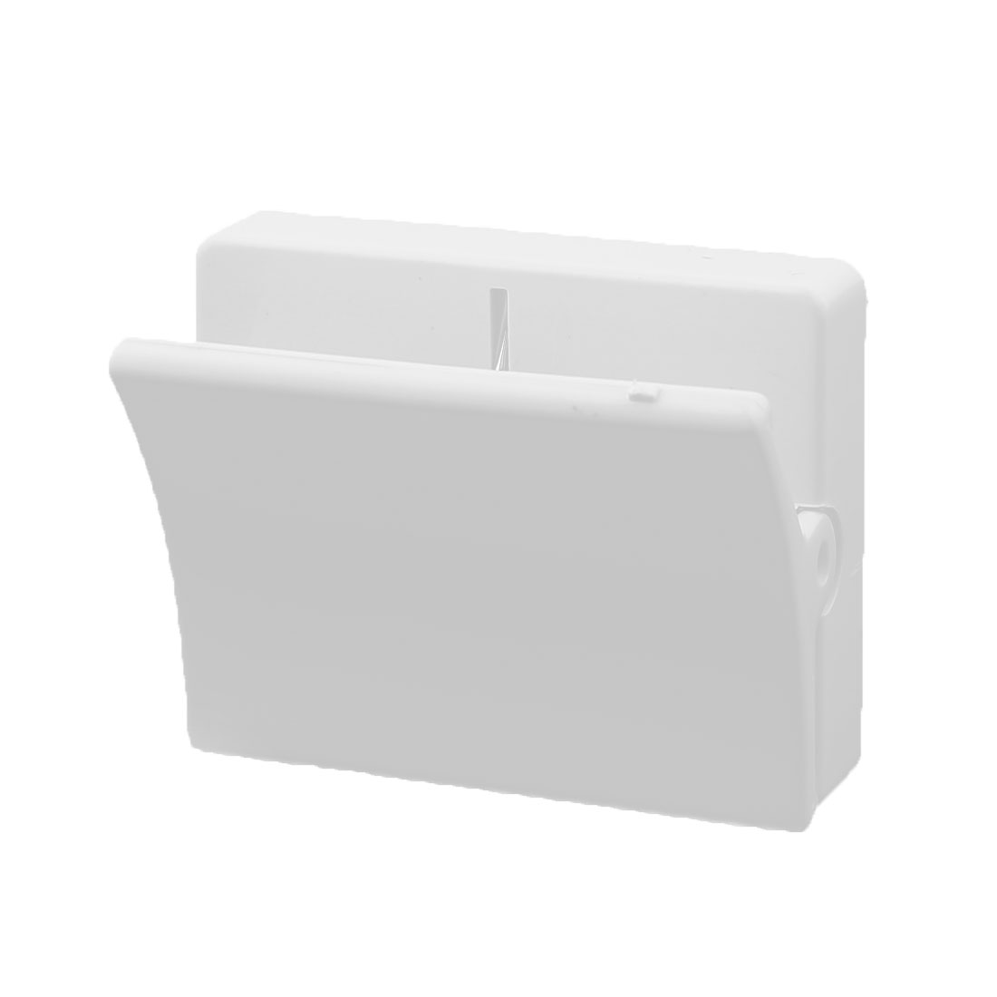 Refrigerator Wall Plastic Spring Loaded Square Memo Note Holder Magnetic Clip White