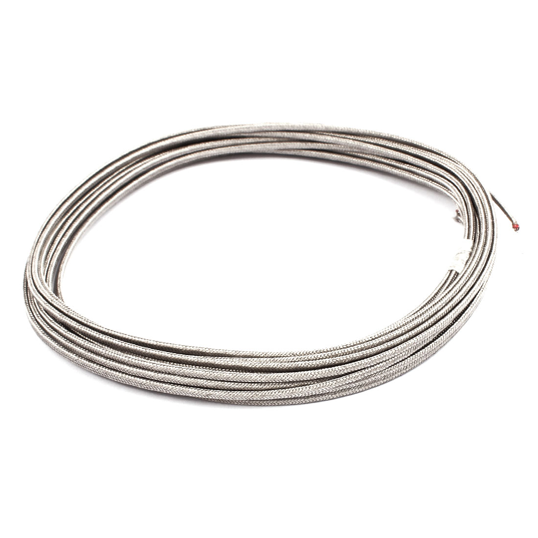 8 Meter 0.5mm Width Silver Tone Metal K Type Thermocouple Extension Wire