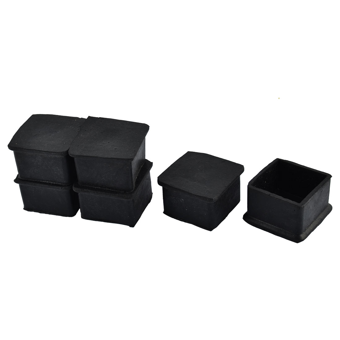 Furniture Table Chair Rubber Square Shape Foot Protector Pad Black 6pcs