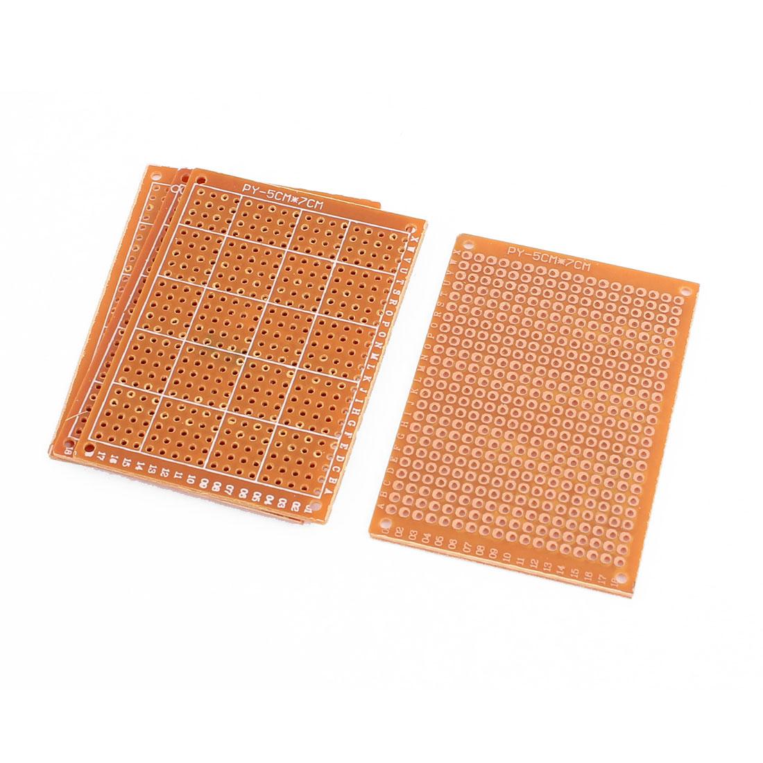 5x7cm Prototype Paper Copper PCB Universal Experiment Matrix Circuit Board 4pcs